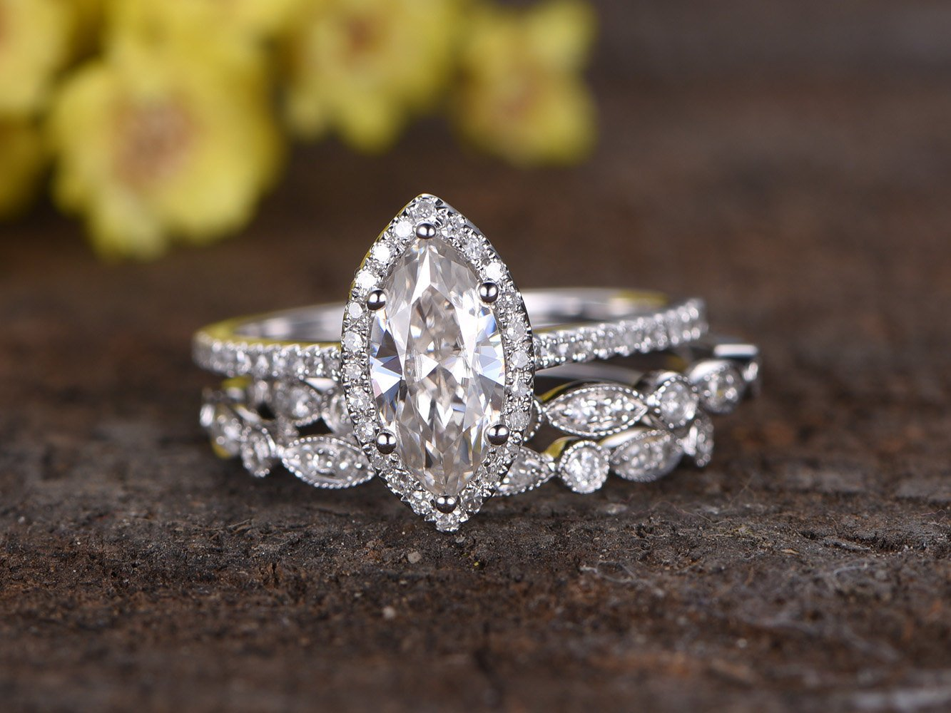 5x10mm Marquise Cut Forever Classic Moissanite Engagement